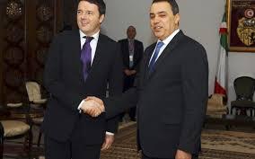 Matteo Renzi ed Il Premier tunisino Mehd Jomaa